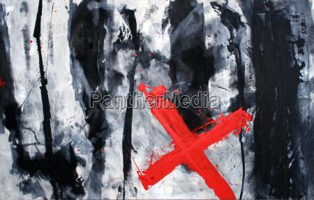 arte cruz negro caucasico pintura abstracto