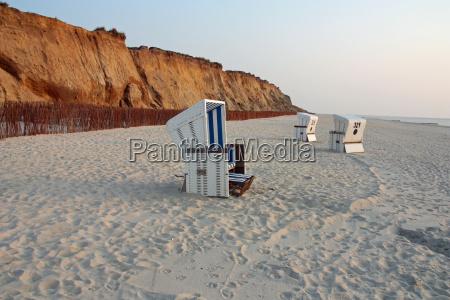 beach baskets on sylt