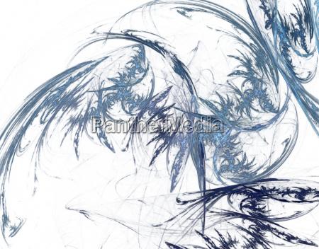 azul moderno lineas caos ilustracion tallo