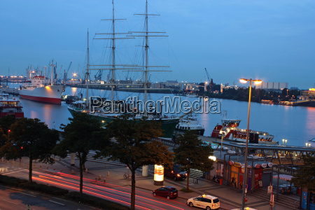 museum ships in the evening