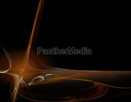 luz flujo ondas lineas poder ilustracion