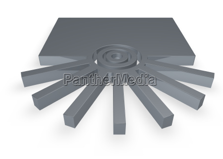 senyal ilustracion irradiar circulo abstracto anillos
