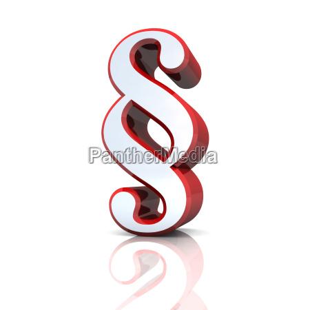 3d paragrafenzeichen silver roja
