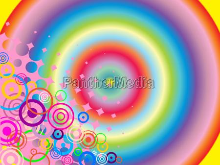 disenyo colorido puntos abstracto circulos geometrico