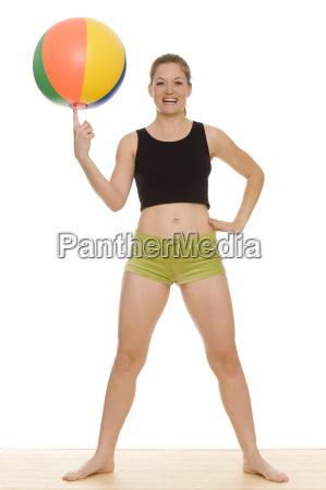 mujer deporte deportes fiesta vacaciones ballsport