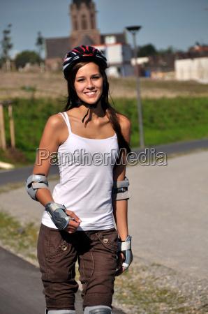 deporte hace joven mujer feliz