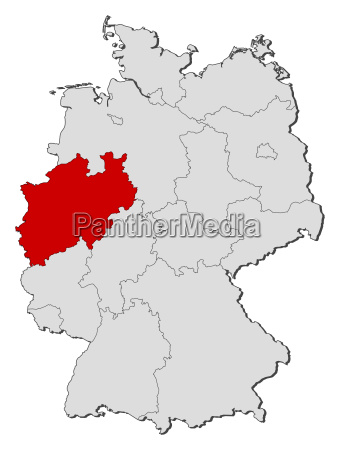 mapa de alemaniarenania del norte westfalia