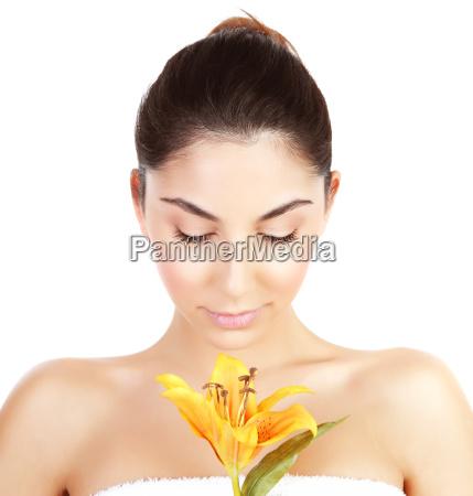 woman at spa