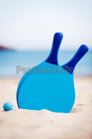 azul bate de pelota de playa