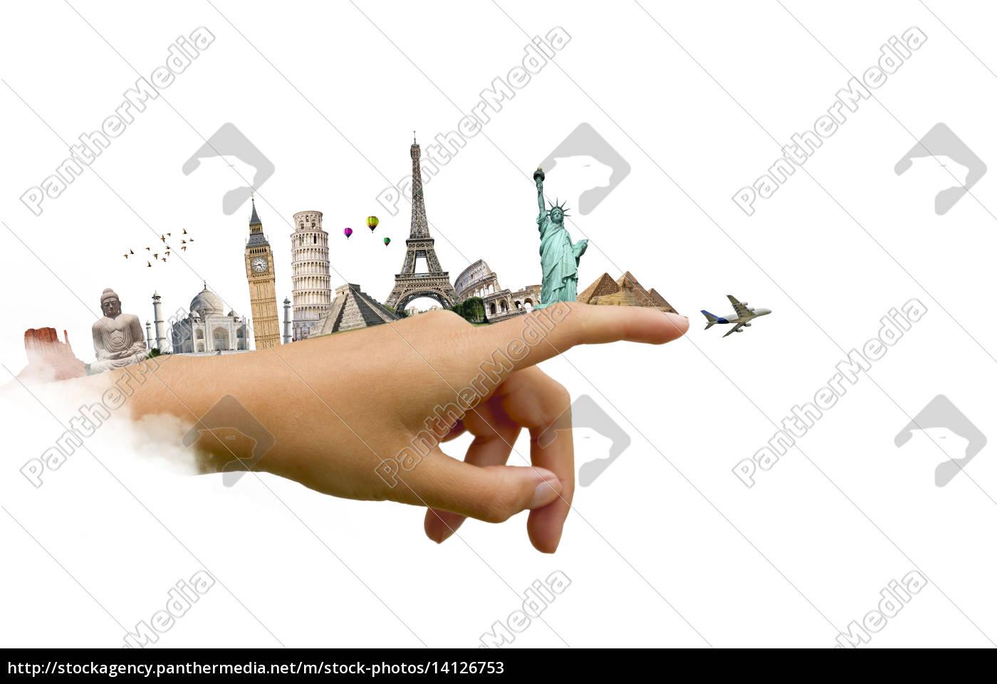 ilustración, del, famoso, monumento, del, mundo - 14126753