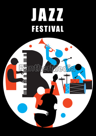 music sound poster card jazz festival