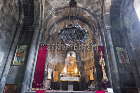 main altar in the interior of