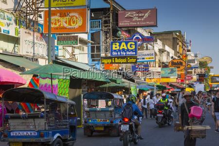 khao san road bangkok thailand southeast