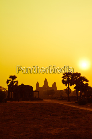 sunrise over the temple of angkor