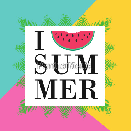 i love summer concept summer background